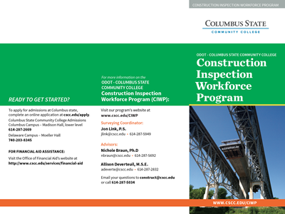 ODOT - CSCC Construction Inspection Workforce Program Brochure